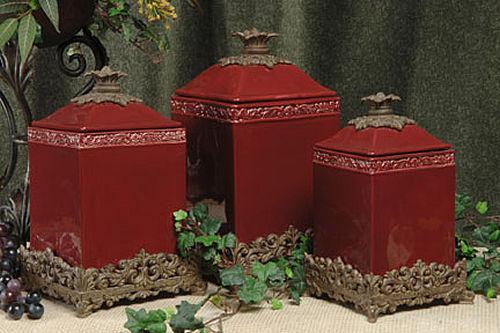 Decorative kitchen canister sets photo - 2