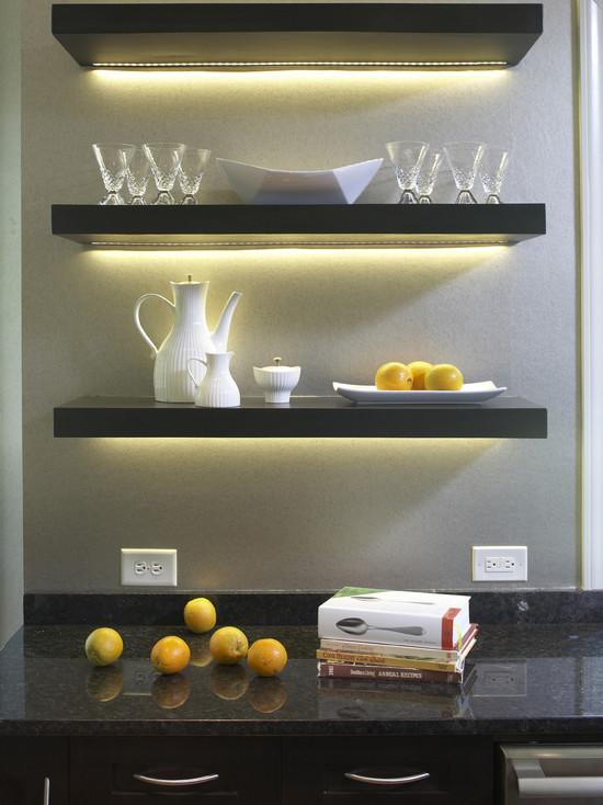 Decorative kitchen shelves photo - 1