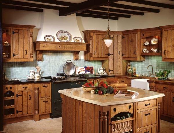 Decorative kitchen shelves photo - 3