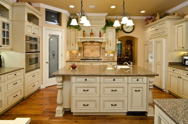 Distressed black kitchen island photo - 2