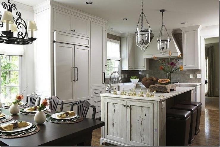 Distressed kitchen island photo - 1