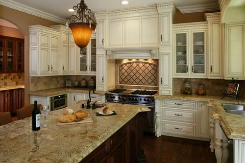 distressed white kitchen island photo 2 - Distressed White Kitchen Cabinets