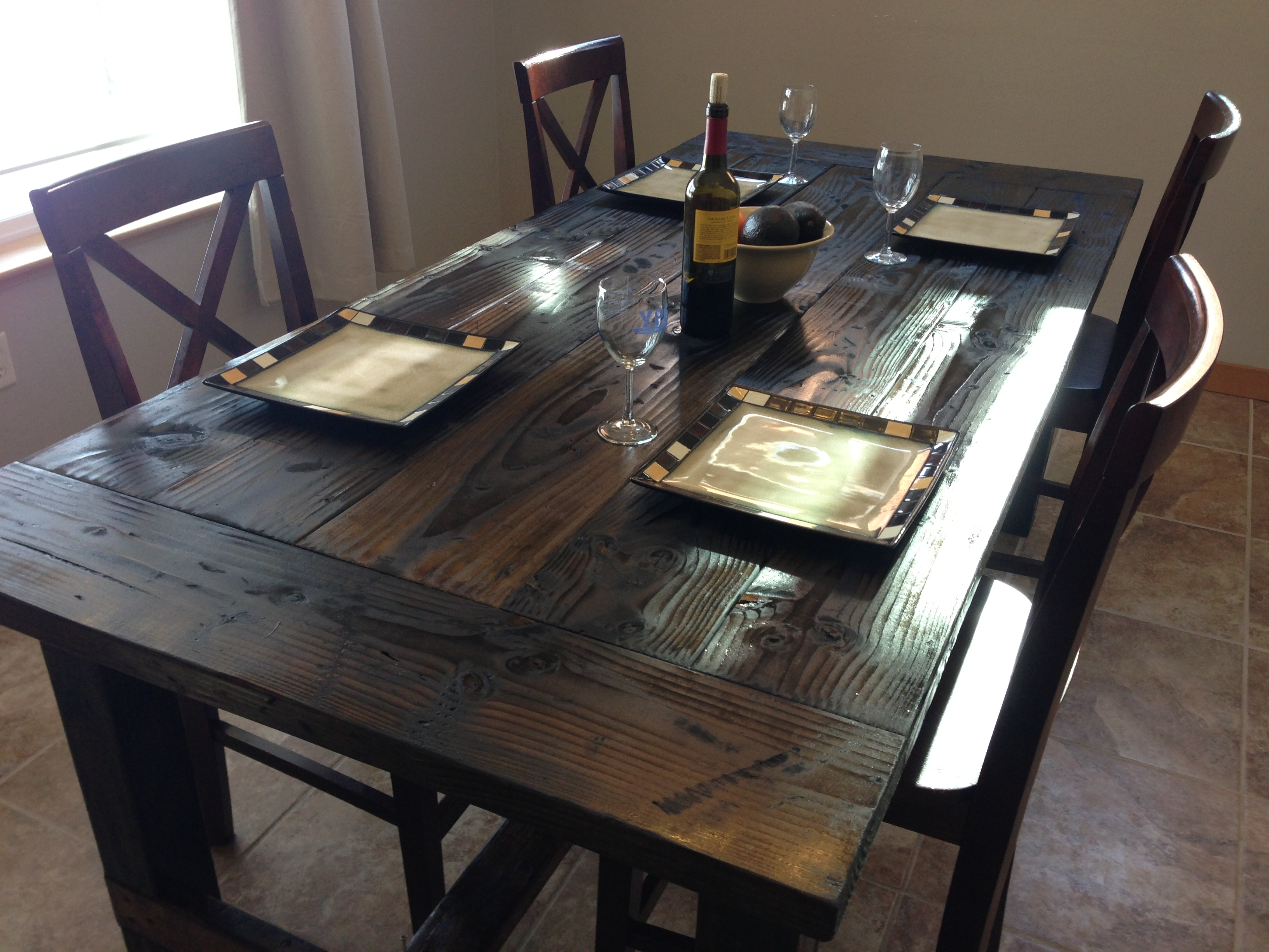 Farm style kitchen tables photo - 2