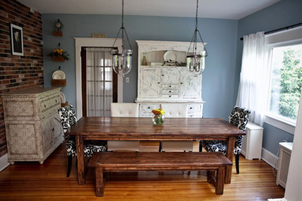 Farmhouse kitchen table and chairs photo - 1