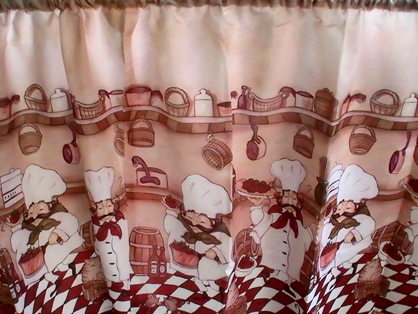 Fat chef kitchen curtains photo - 1
