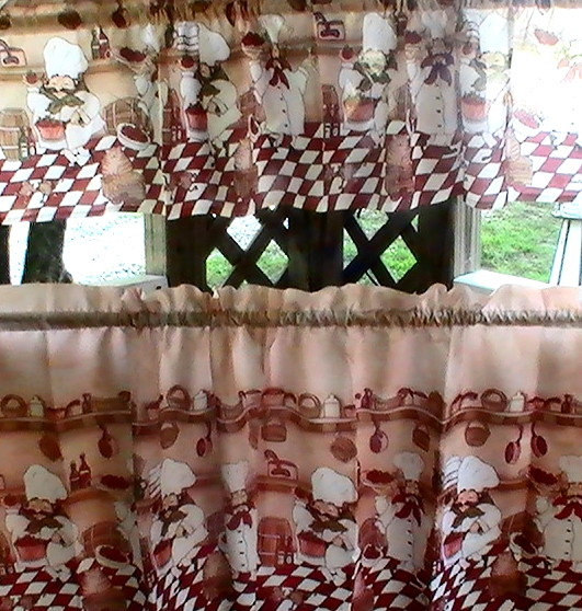 Fat chef kitchen curtains photo - 2