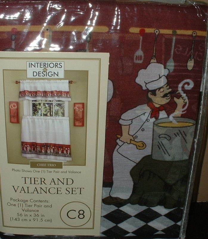 Fat chef kitchen curtains photo - 3