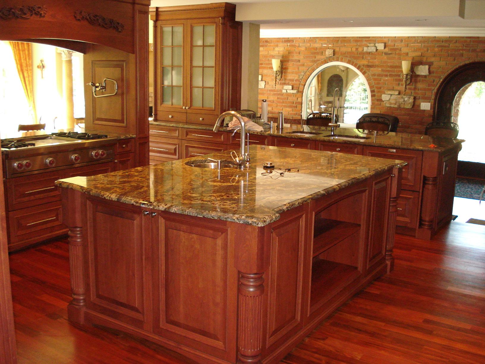 Faux marble kitchen table set photo - 1