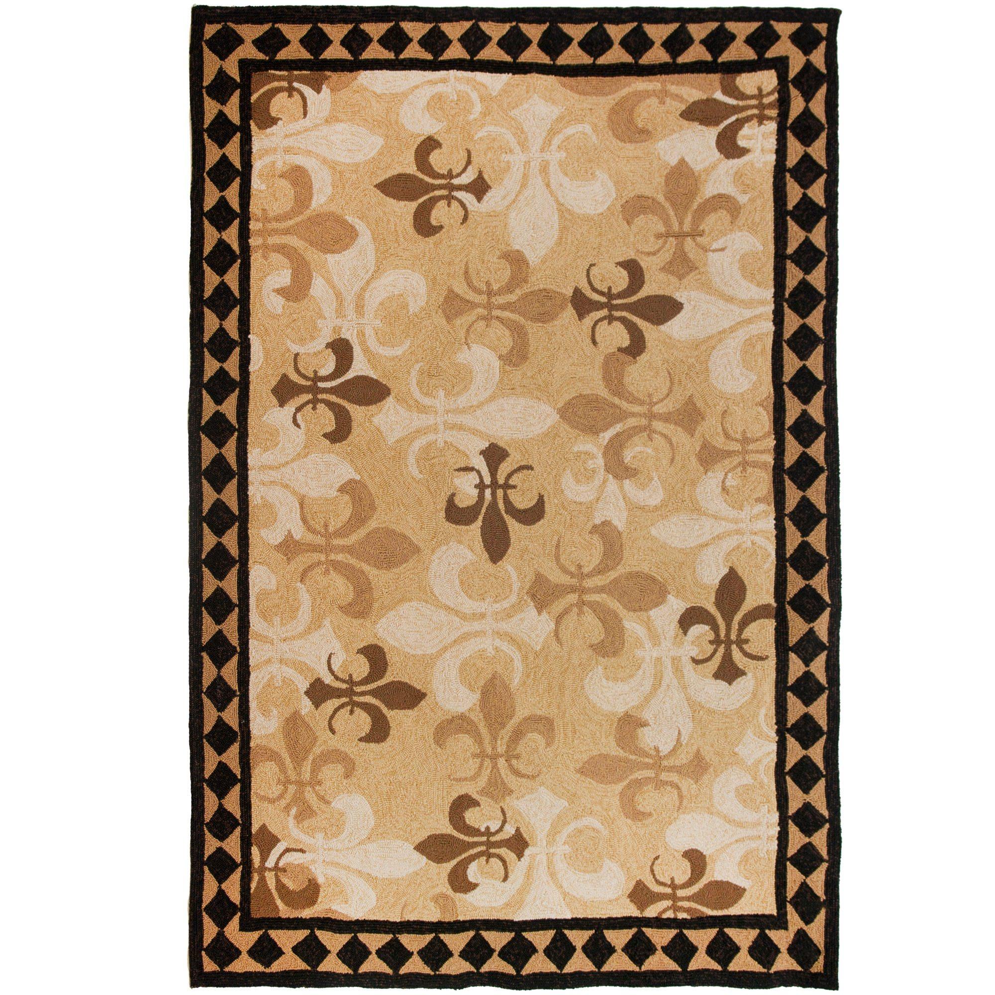 Fleur de lis kitchen rugs photo - 1