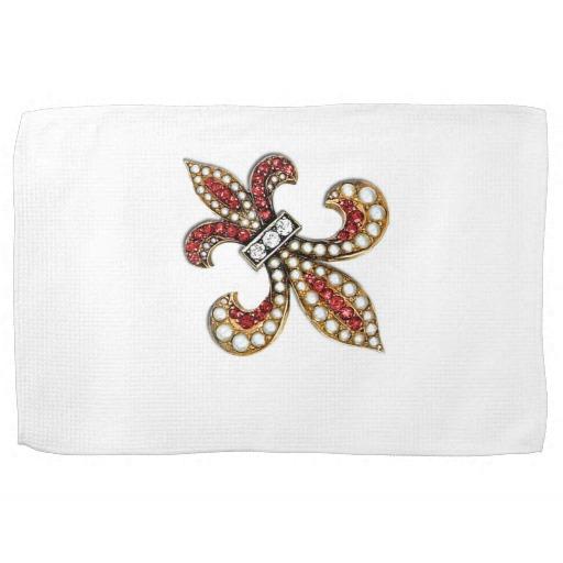 Fleur de lis kitchen towels photo - 1