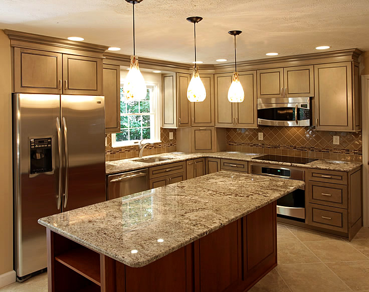 Flush mount fluorescent kitchen lighting photo - 1