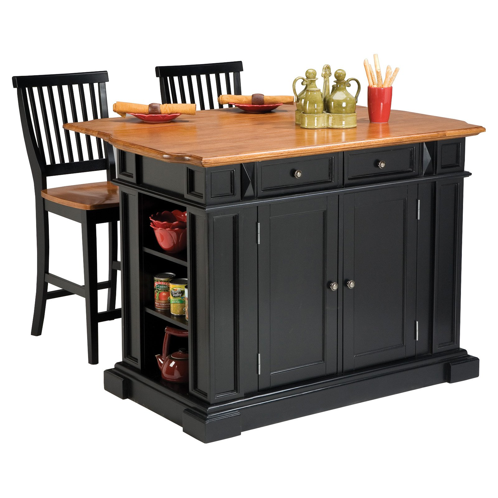 Origami Folding Kitchen Island Cart with Casters - YouTube | 1600x1600