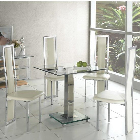 Glass kitchen tables photo - 2
