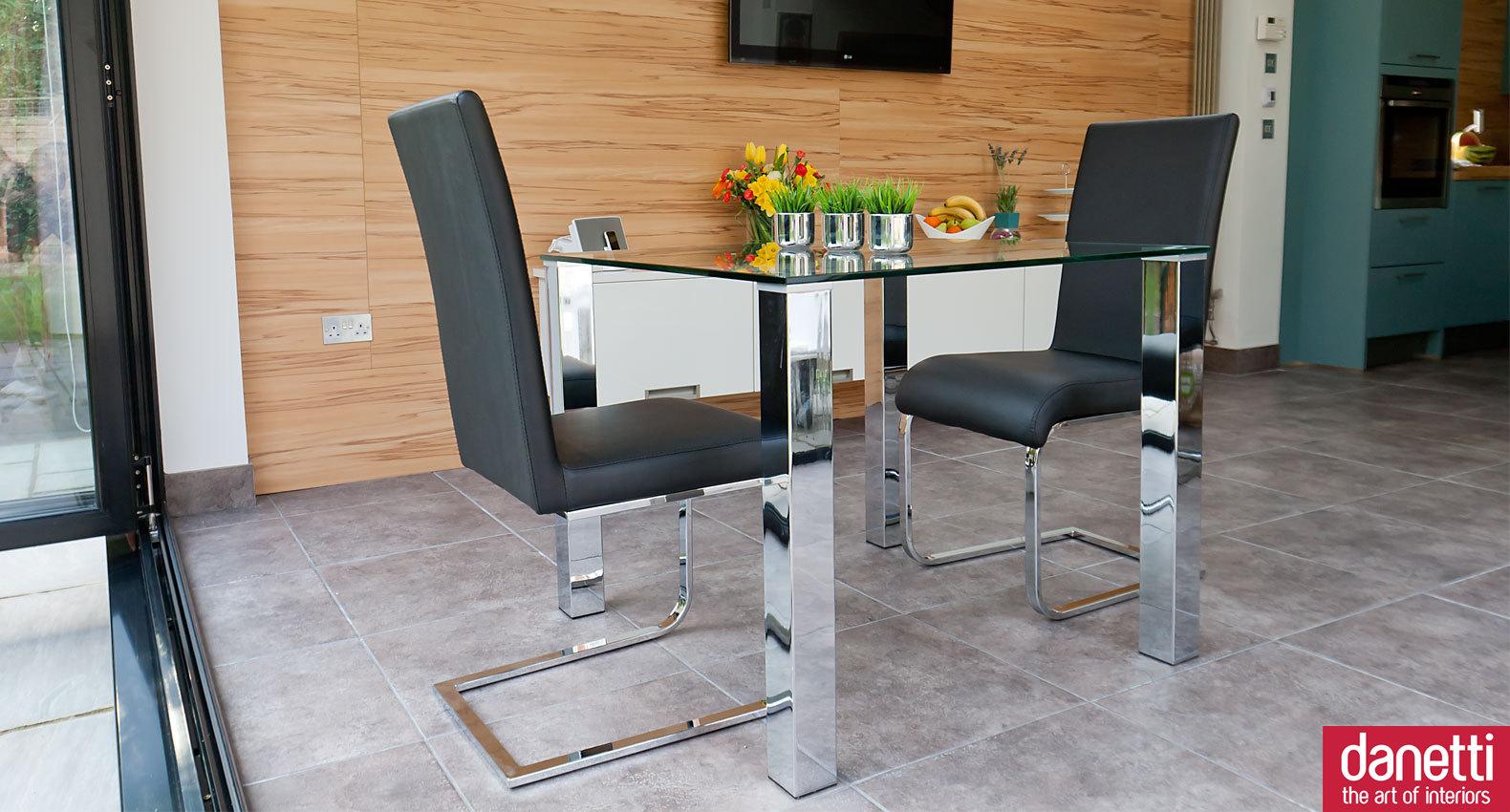 Glass kitchen tables photo - 3