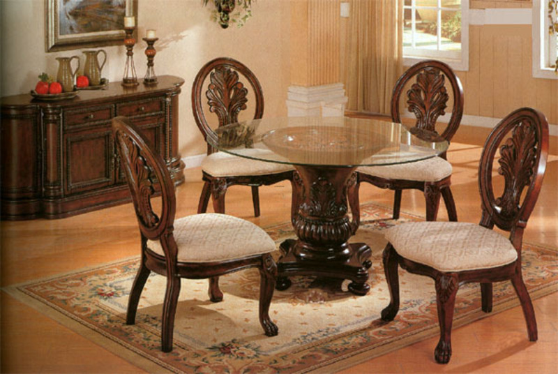 Glass Round Kitchen Table Kitchen Ideas - Round kitchen table with glass top