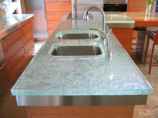 Glass top kitchen table photo - 1