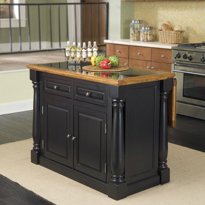 Granite top kitchen island photo - 1