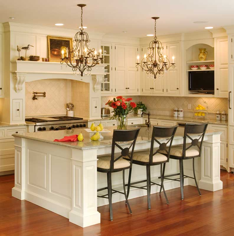 Granite top kitchen island with seating photo - 2