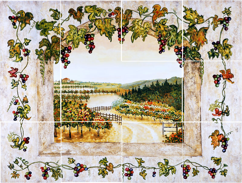 Grape decor for kitchen photo - 3