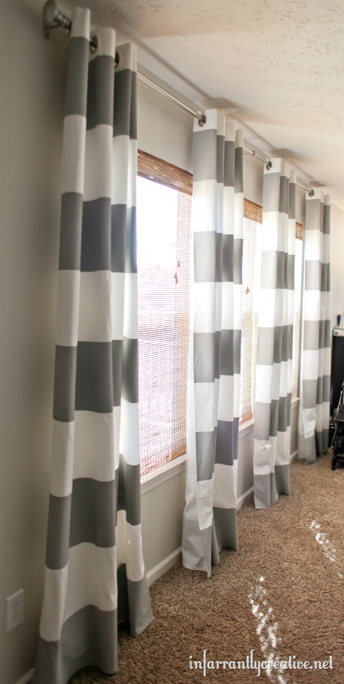 Gray kitchen curtains photo - 3