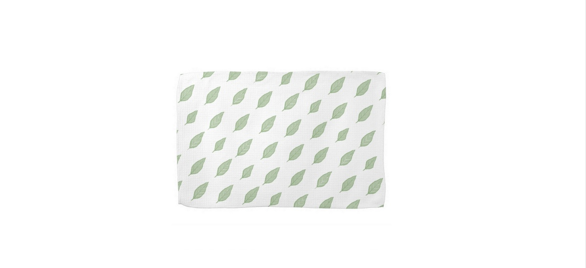 Green kitchen towels photo - 3