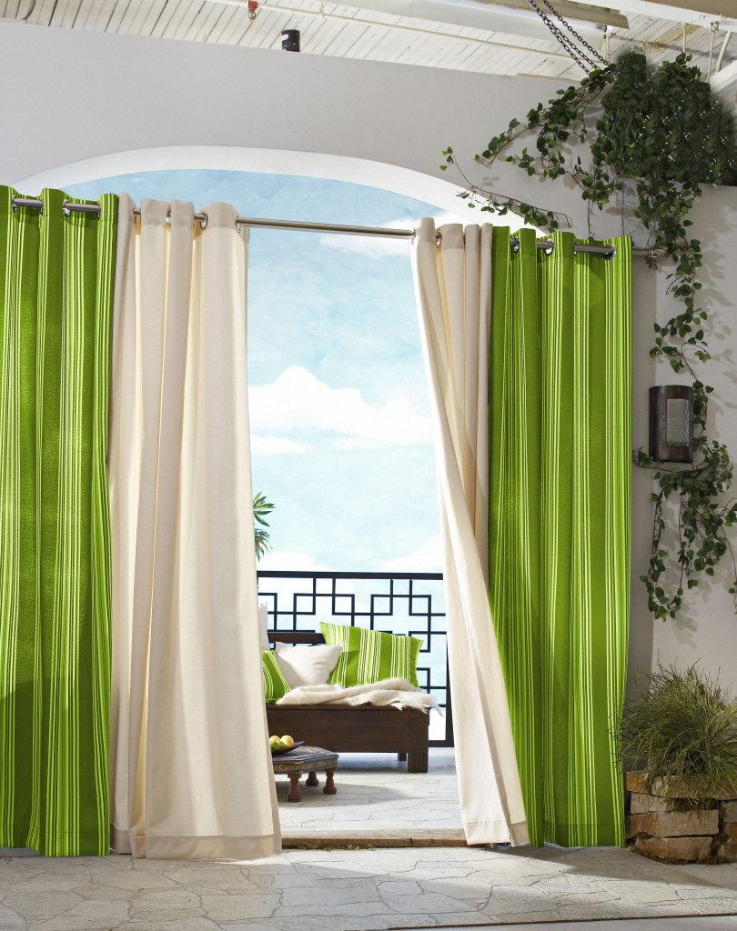 Grey kitchen curtains photo - 1
