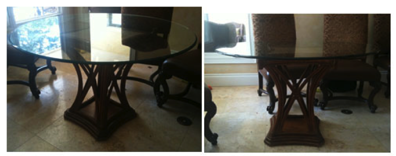 High top kitchen table and chairs photo - 3