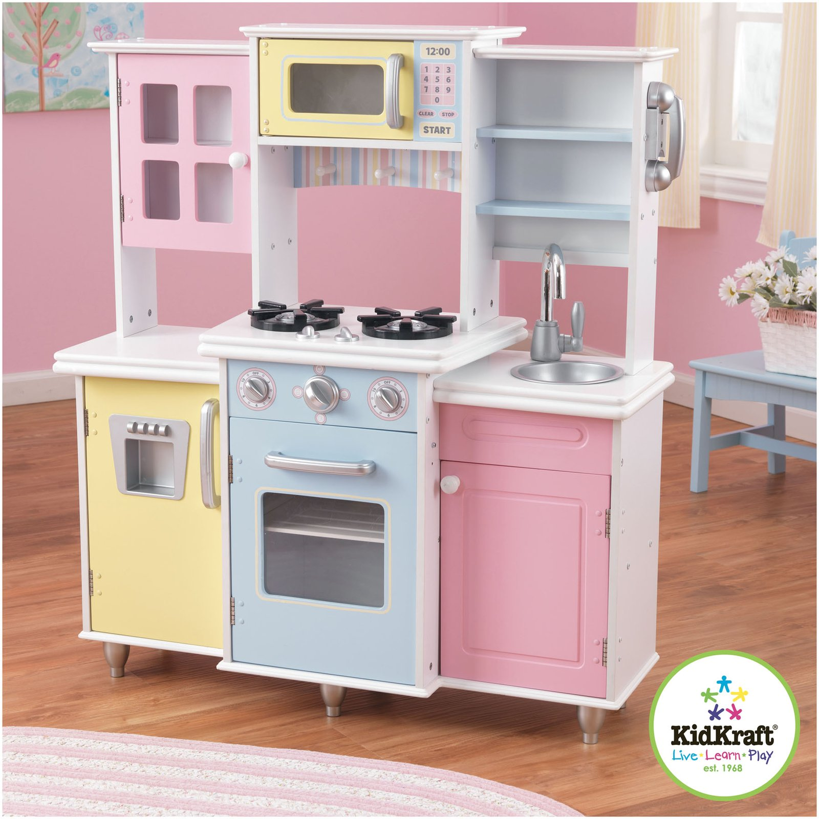 Kidkraft kitchen pink kitchen ideas for Kitchen kitchen set