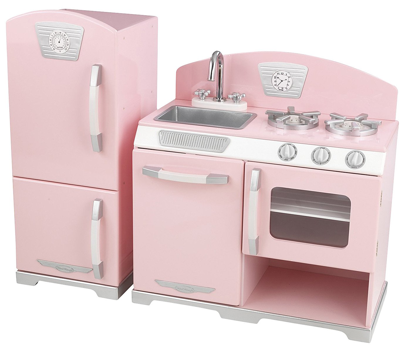 Kidkraft pink retro kitchen and refrigerator photo - 2