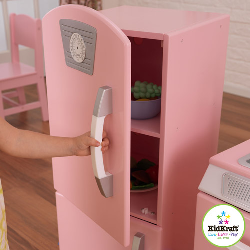 Kidkraft pink retro kitchen and refrigerator photo - 3