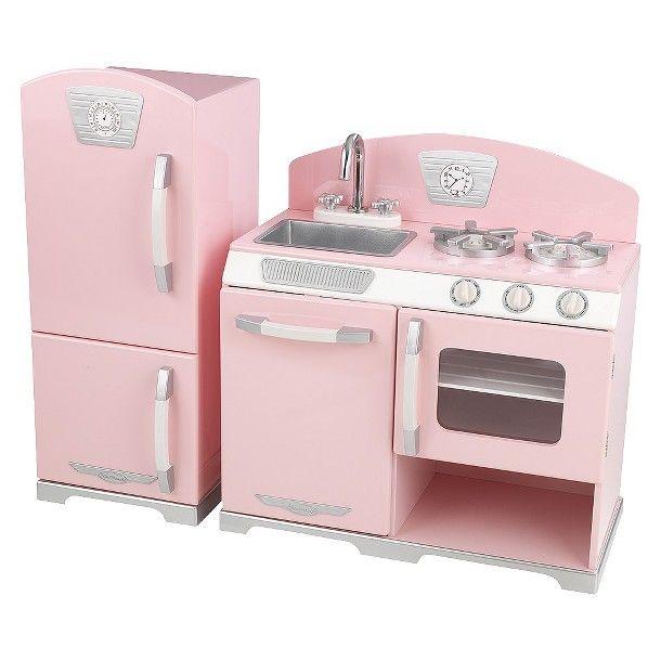 Kidkraft retro kitchen and refrigerator photo - 1
