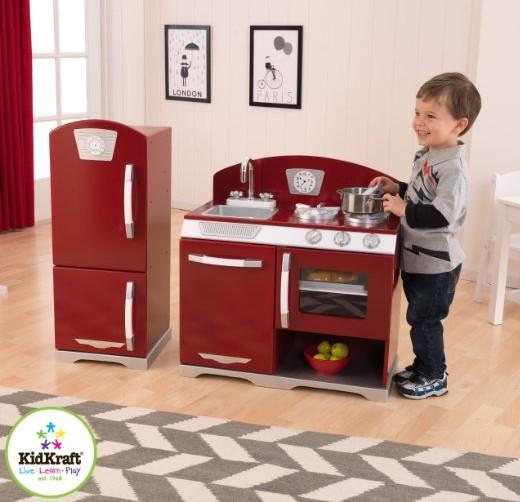 Kidkraft retro kitchen and refrigerator photo - 3