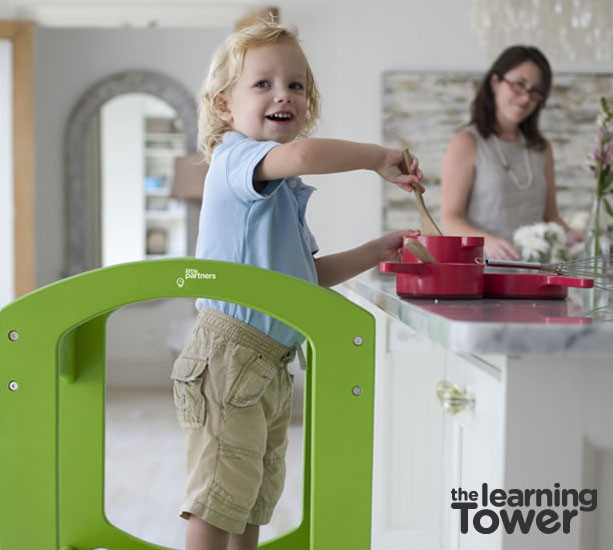 Kids kitchen step stool photo - 1