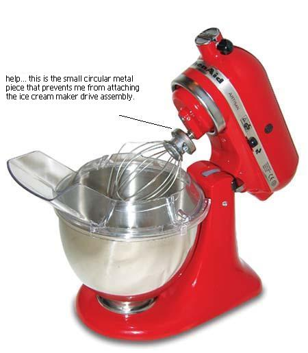 Kitchen aide ice cream maker photo - 1