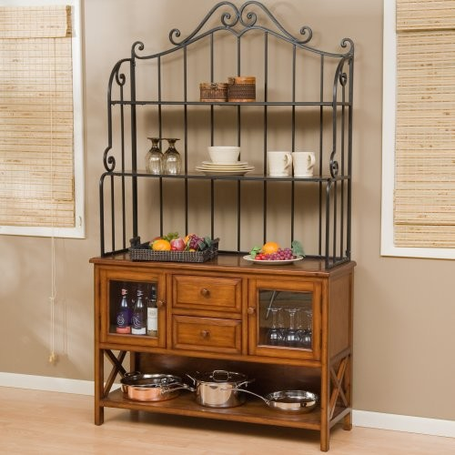 Kitchen bakers rack cabinets photo - 1