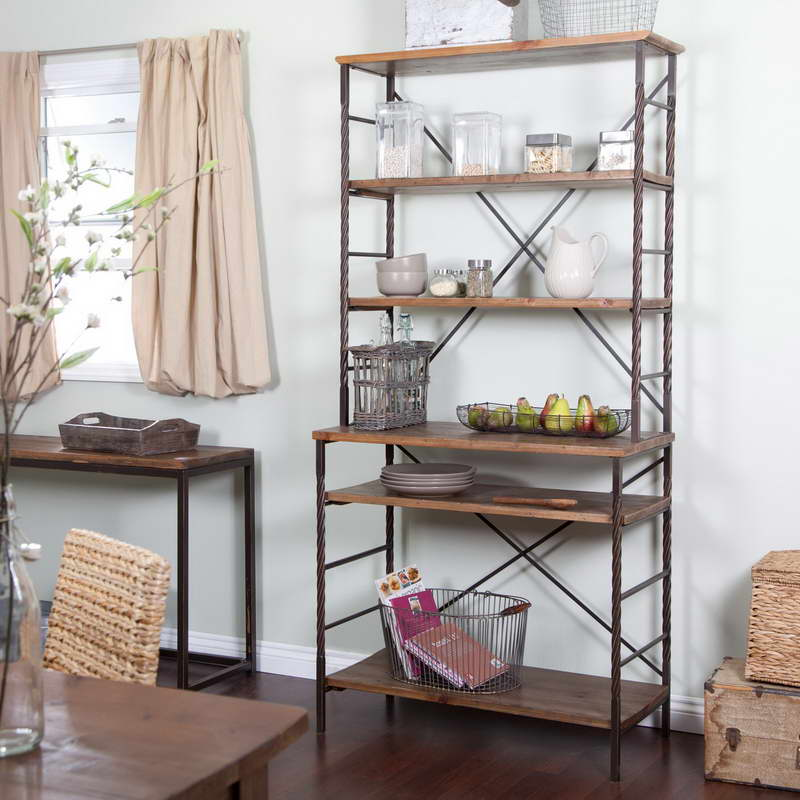 Kitchen bakers rack cabinets photo - 3