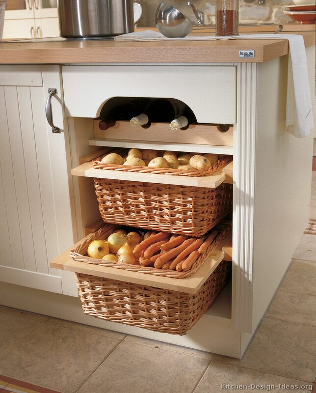 Kitchen cabinet baskets photo - 2