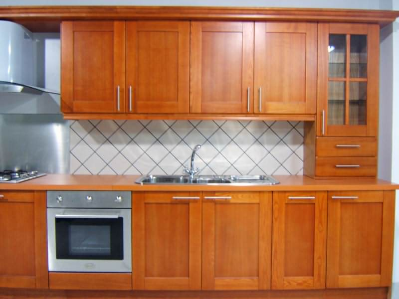 Kitchen cabinet door storage photo - 3