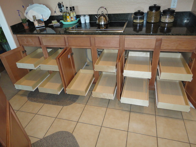 Kitchen cabinet organizers pull out shelves photo - 2
