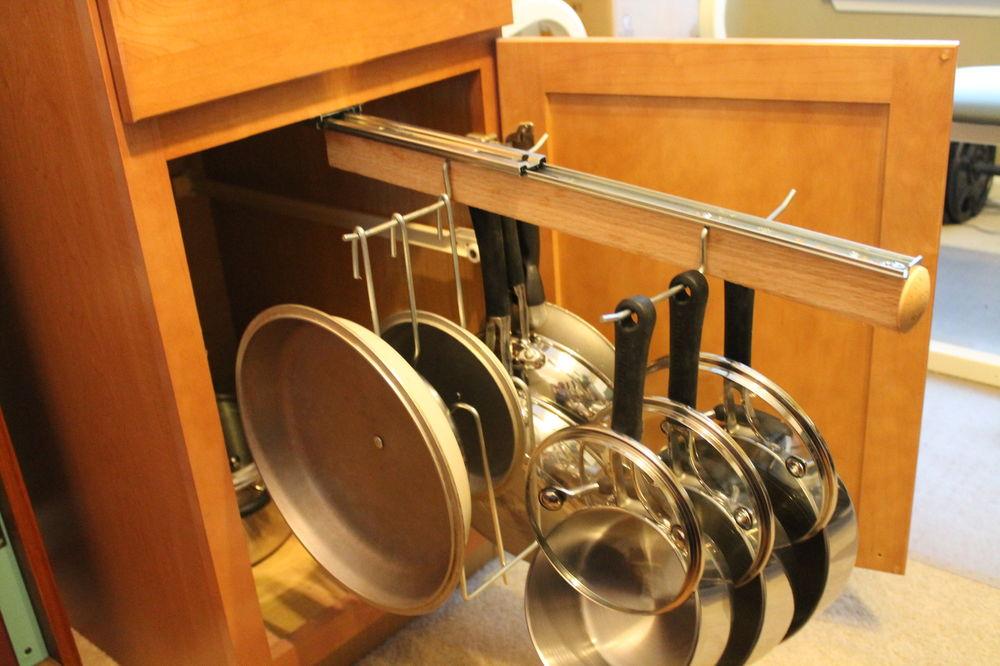 Kitchen cabinet pot organizer photo - 2