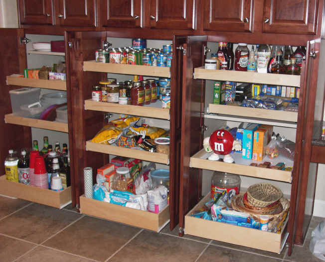 Kitchen cabinet pull out organizer photo - 2