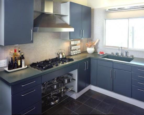 Kitchen cabinet shelving photo - 3