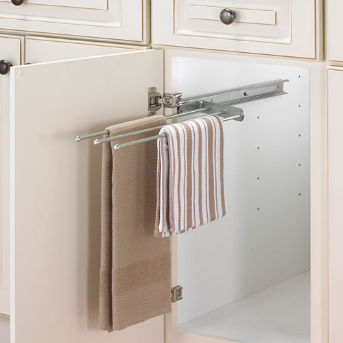 Kitchen cabinet towel rack photo - 3