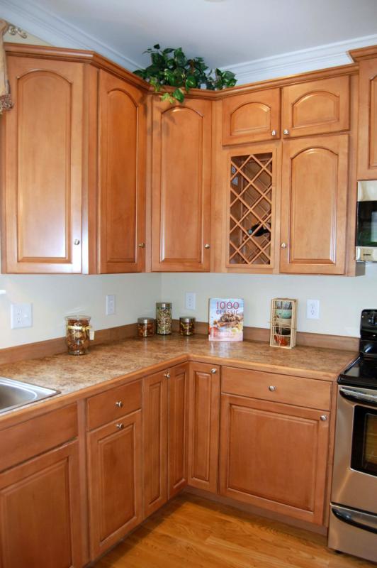 Kitchen cabinet wine rack photo - 3