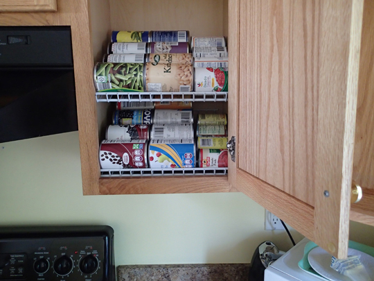 Kitchen cabinets organization photo - 3