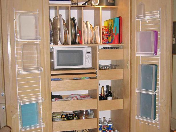 Kitchen cabinets storage photo - 2