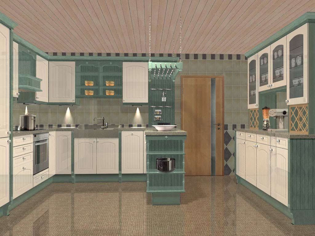 Kitchen cabinets with sliding doors photo - 3