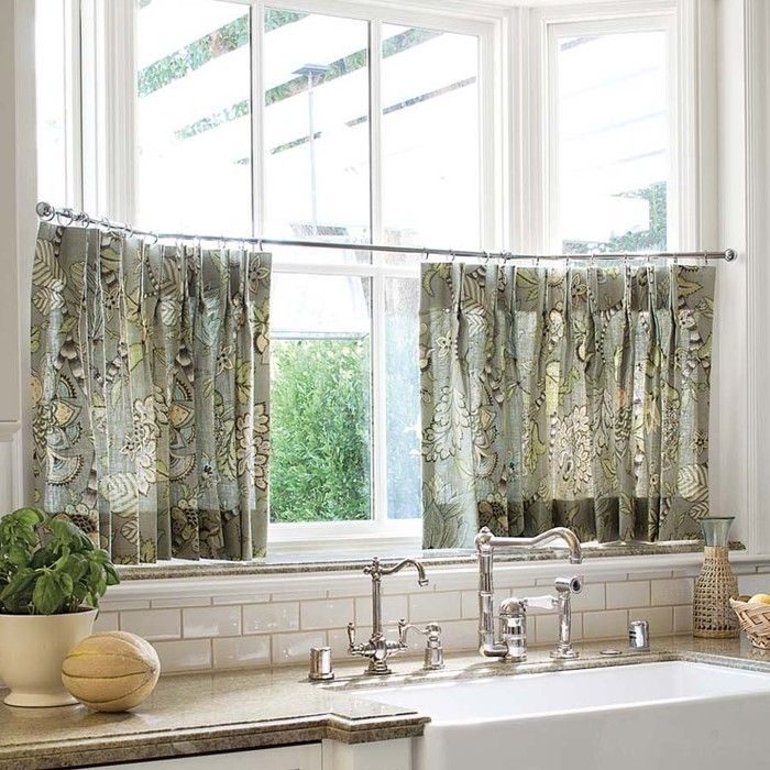 Kitchen cafe curtains photo - 2