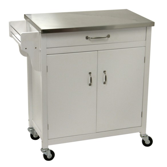 Kitchen cart stainless steel top photo - 3