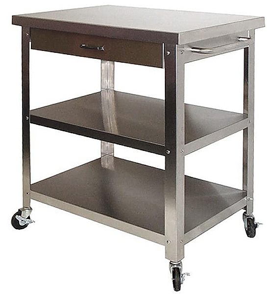 Gentil 10 Photos To Kitchen Cart With Stainless Steel Top
